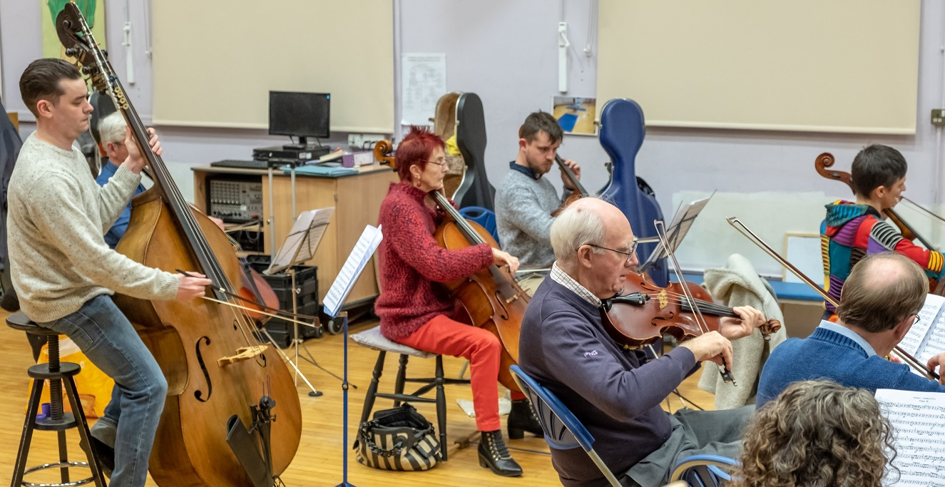 Cellos in rehearsal