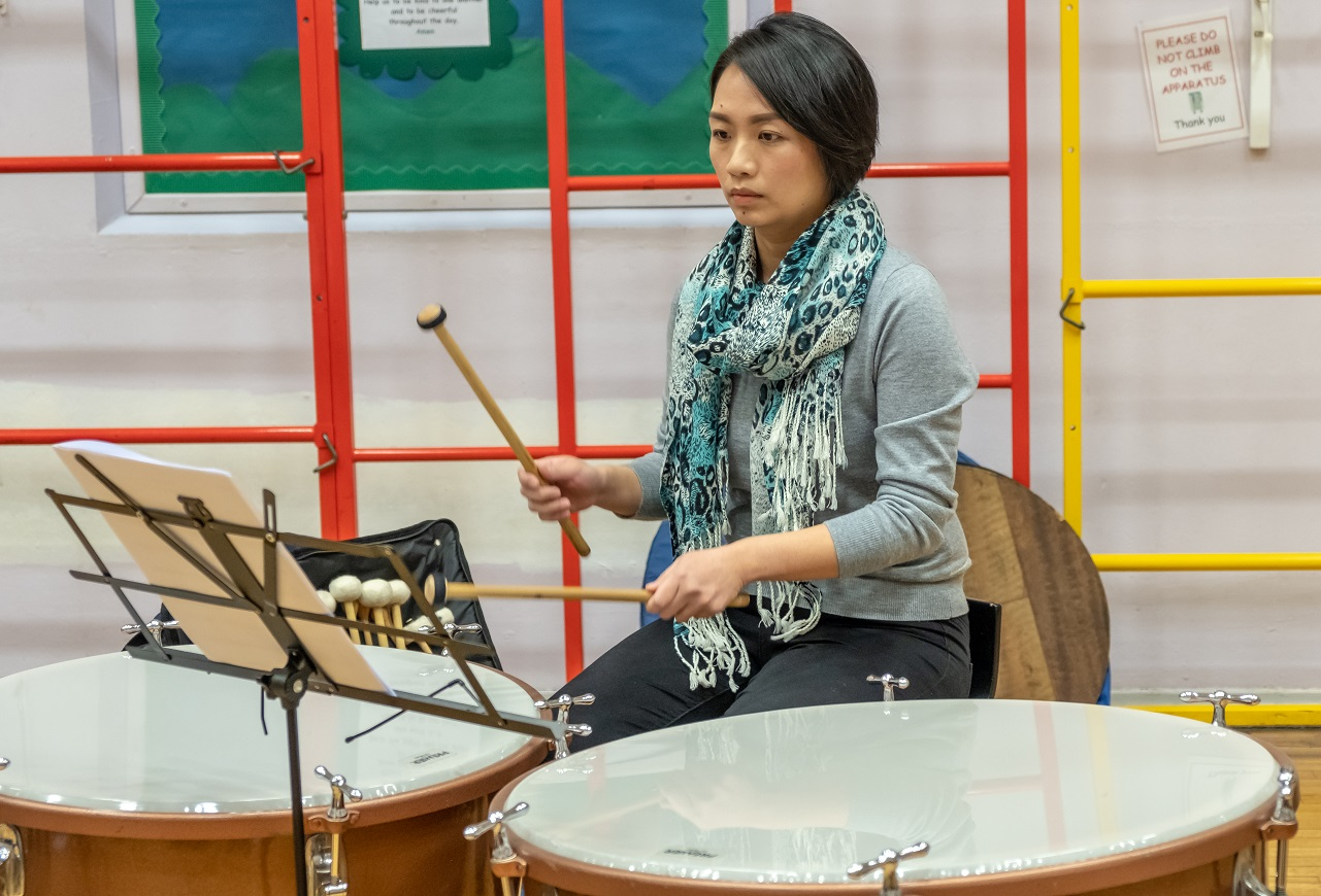 Percussion in rehearsal